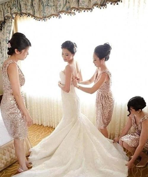 Gold Sequin Bridesmaid Dress  Short Bridesmaid Dress Sequin Bridesmaid Dress