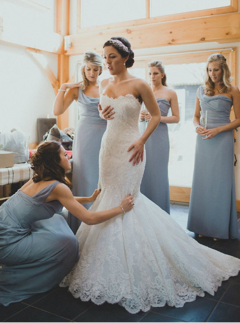 Amazing Dusty Blue Bridesmaid Dresses Classic Bridesmaid Dresses Elegant Bridesmaid Dress