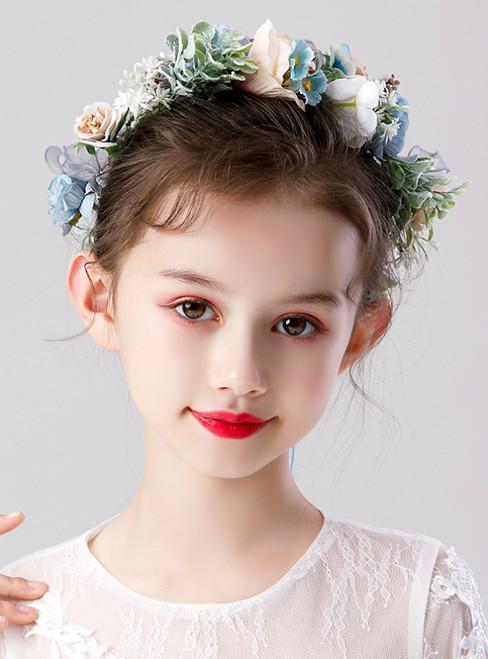 Children's Flower Garland Princess Colorful Flower Hair Accessories