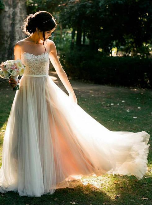 Country Wedding Dress Beach Wedding Dress Summer Wedding Dress