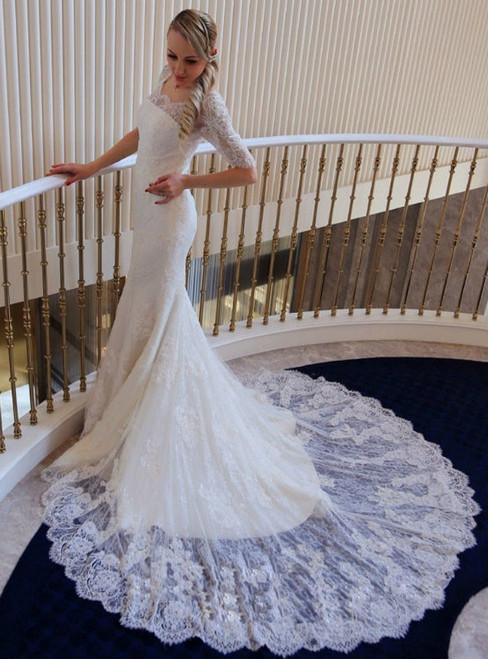 Vintage Wedding Dress  Bridal Dress  Lace Wedding Dress Mermaid Bridal Dress