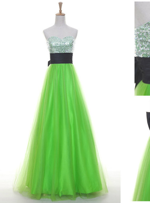 Prom Dress Sexy Elegant Tulle Prom Dress Long Prom Dress A-line Prom Dress