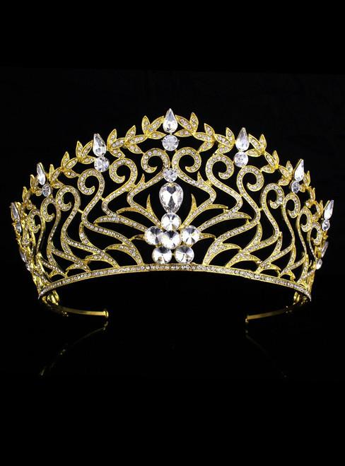 Baroque Queen hairband Rhinestone Hair Accessories Princess Headdress
