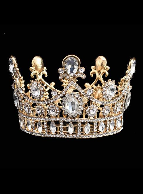 European Rhinestone Wedding Crown Bride Headdress