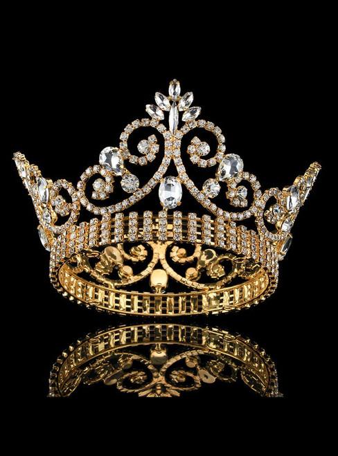 Baroque Queen Crown Rhinestone Hair Accessories Princess Tiara