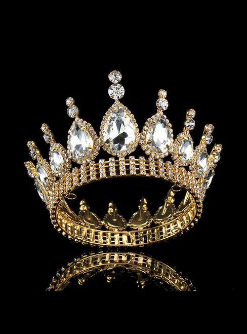 Luxury Bride Crown Tiara European Temperament Rhinestone Crown