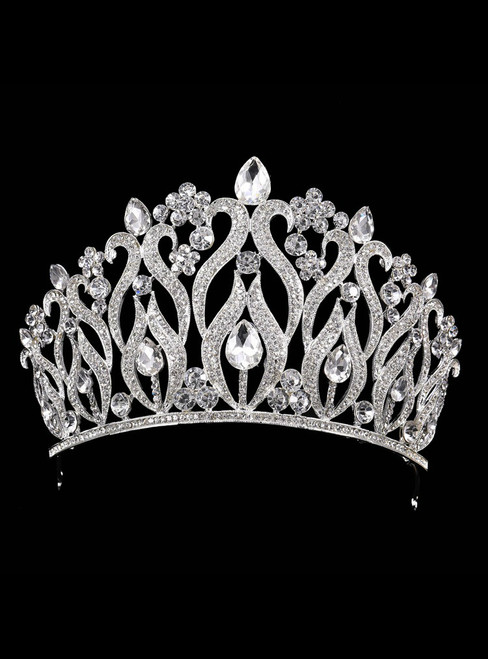 Crystal Crown Tiara Accessories Luxury Baroque Rhinestones