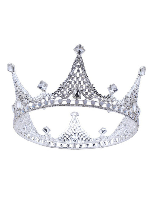 Women Baroque Crown Korean Crown Headdress