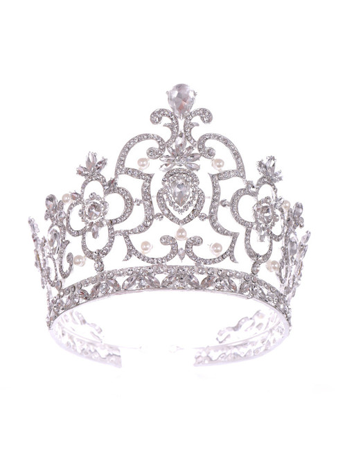 Bride Crown Tiara Princess Hair Purple Accessories