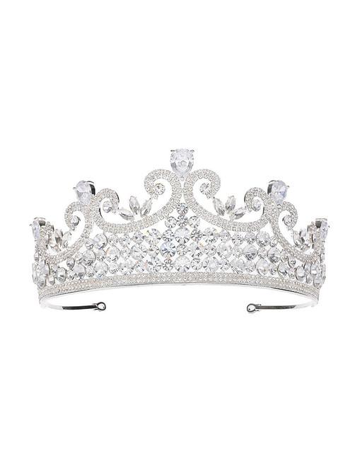 Bride Tiara Crown Hair Accessories Zircon