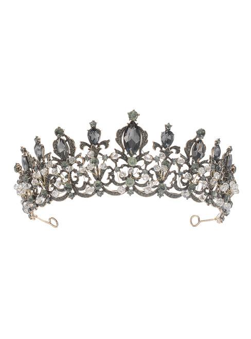 Black Crown New Retro Baroque Crystal Crown