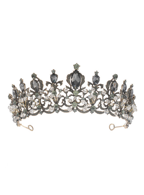 Black Crown New Retro Baroque Crystal Crown