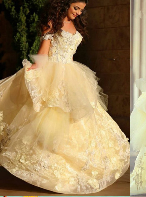 Yellow Prom Dresses With Lace Off The Shoulder Evening Gowns Mermaid Formal Dresses