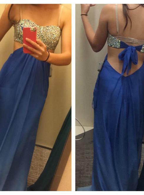 Custom Made A Line Floor Length Prom Dresses  Long Formal Dresses