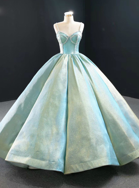 Sexy Ball Gown Straples Beading Sweeth 16 Prom Dress 2020