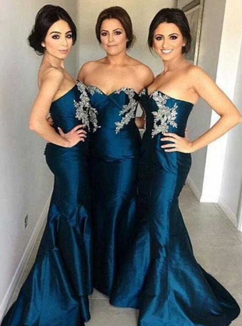 mermaid bridesmaid dress Long bridesmaid dress sweetheart bridesmaid dress