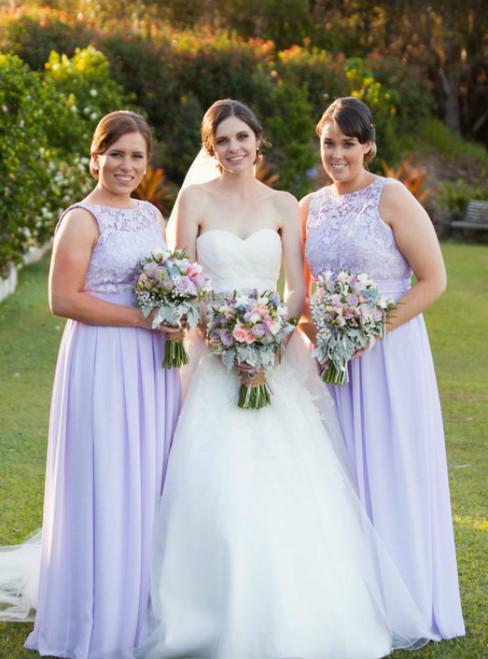 lilac bridesmaid dress simple cheap bridesmaid dress Floor-length bridesmaid Dress
