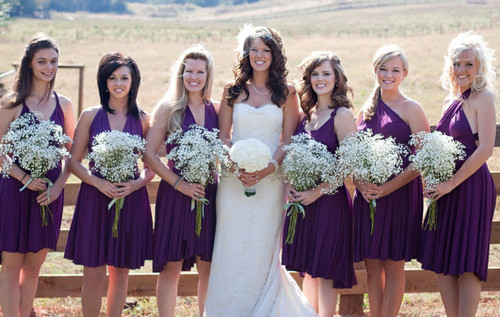 Convertible Dress - Infinity Wrap Style for Bridesmaids