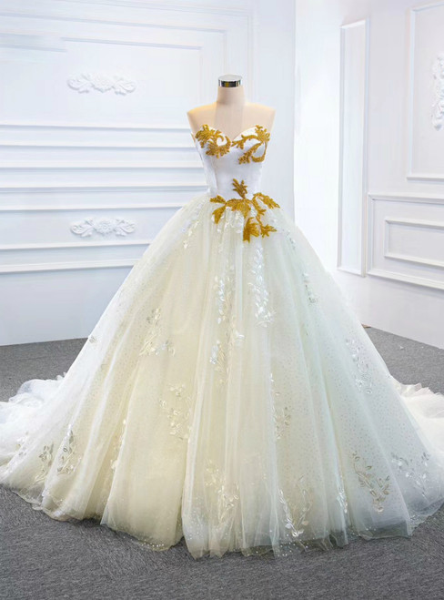 You Are Sure To Find The Perfect White Ball Gown Tulle Lace Sweetheart Beading Wedding Dress