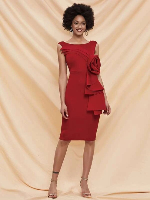 Winsome In Stock:Ship in 48 Hours Red Simple Short Party Dress
