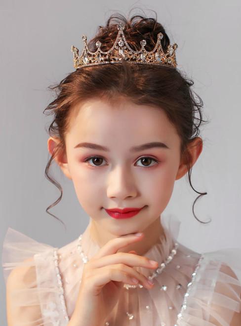 Crown Tiara Crown Crystal Gold Hair Accessories