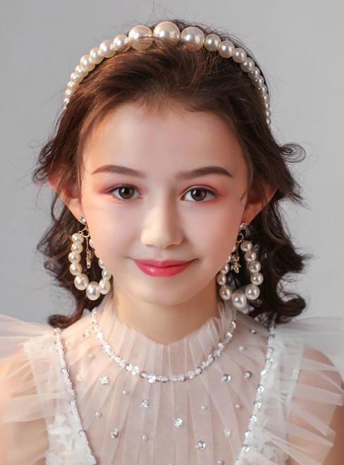 Children's Hair Band Hair Accessories Pearl Set
