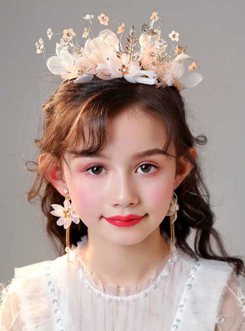 Children's Crown Headdress Corolla Set Pink Girls Accessories