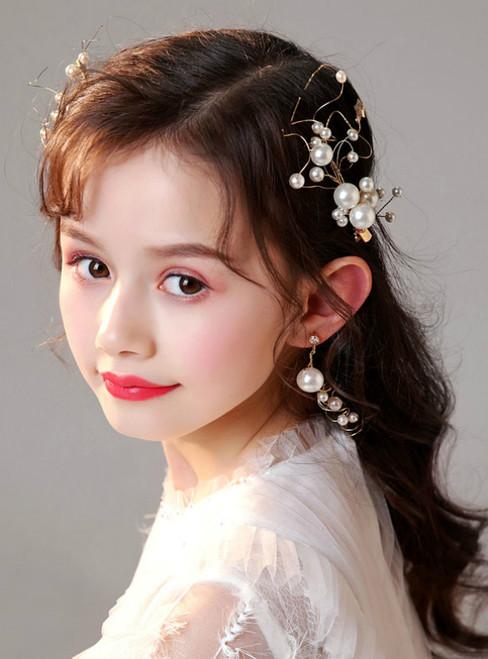 Little Girl Hairpin Hair Accessories Earrings Set