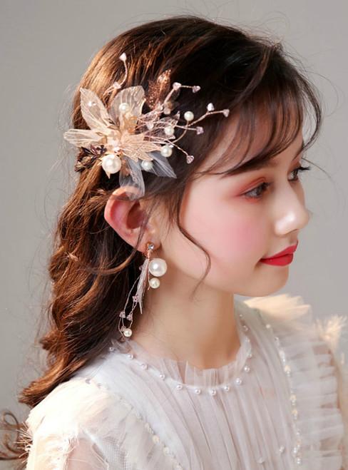 Children's Headwear Clips Crystal Heads Hair Accessories Set