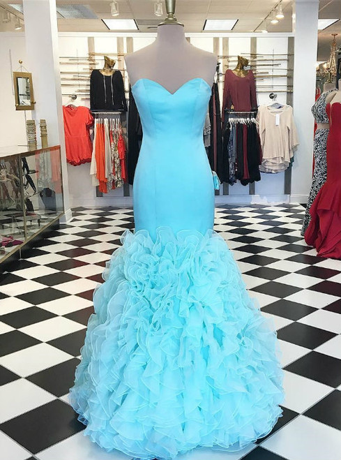 sweetheart bodice corset organza ruffles mermaid prom dresses 2017 sexy