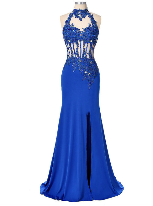 Sexy Backless Women Party Dress Evening Long Sequin Mermaid Prom Dresses