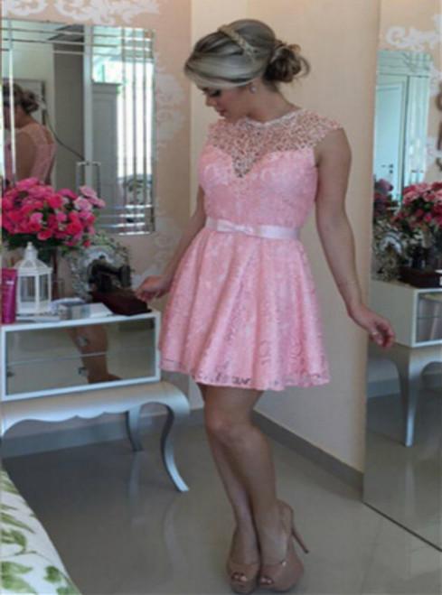 2017 Short Bowknot Homecoming Dress Hot Sale,A-line Sleeveless Short/Mini