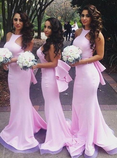 PROM Dresses Off Shoulder Bridesmaid Dresses Pink Bridesmaid Dresses