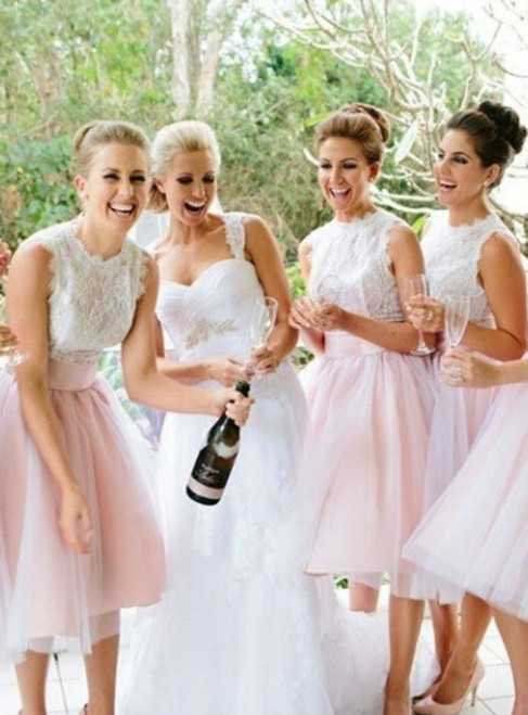 White Bridesmaid Dresses Short Bridesmaid Gown Summer Bridesmaid Gowns