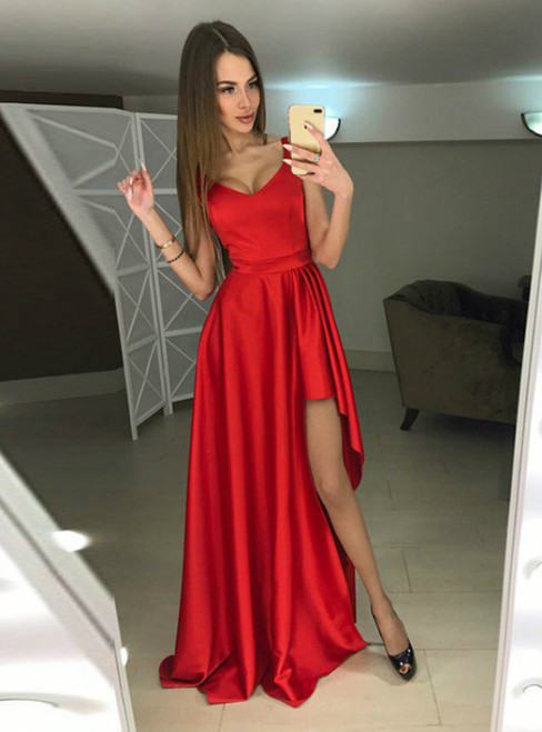 Charming Prom Dress Sleeveless Prom Dresses Sexy Evening Party Dress