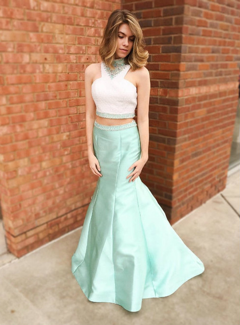 Charming Prom Dress Sexy Prom Dresses Two Piece Prom Dress