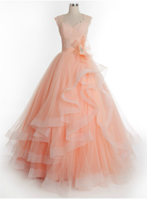 Prom Dress Ball Gown Prom Dress Long Charming Tulle Lace Prom Dress