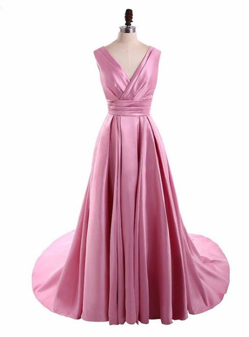 Long Prom Dresses Simple Design Prom Dresses Satin Party Prom Dresses