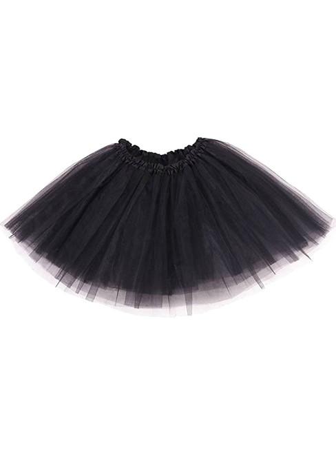 Women's Black Tulle Tutu Skirt