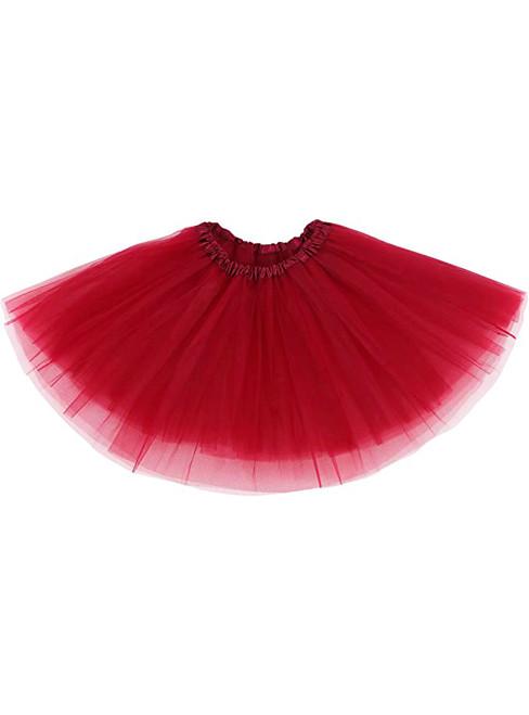Simple Burgundy Tutu Skirt