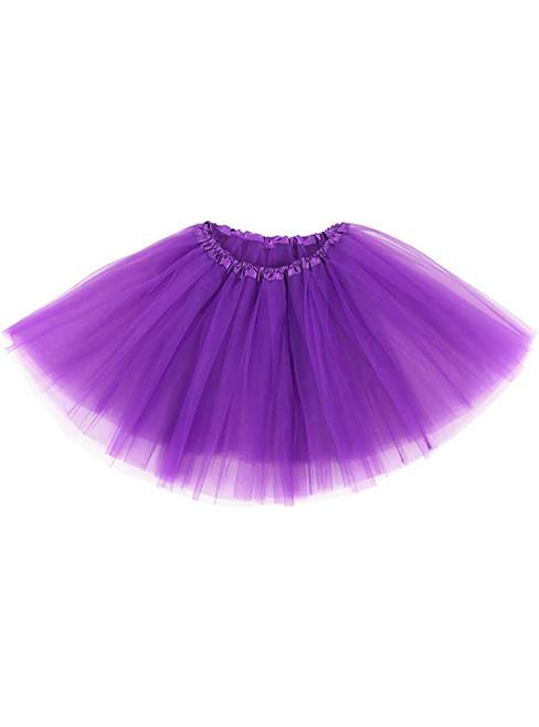 Purple Tulle Tutu Skirt