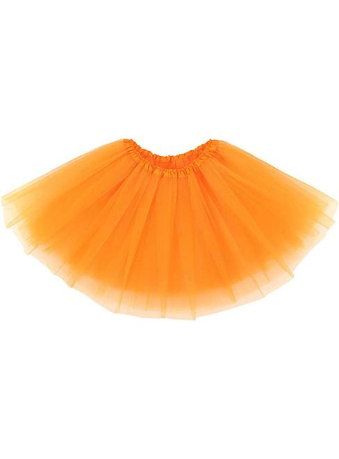 Fashion Orange Tulle Tutu Skirt