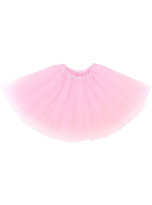 Women Light Pink Tulle Tutu Skirt