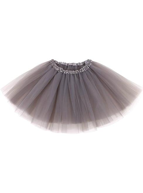 Silver Gray Tulle Short Tutu Skirt