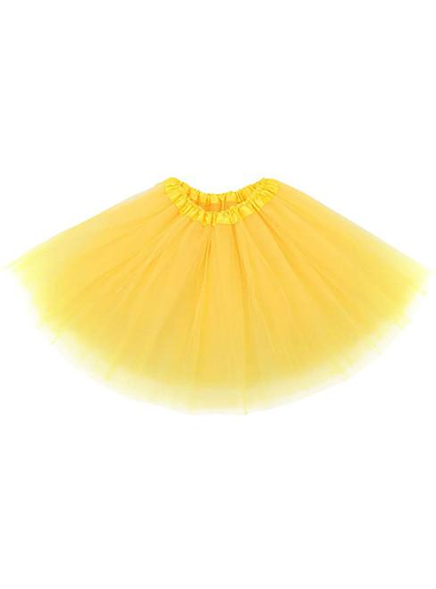 Yellow Tulle Short Tutu Skirt