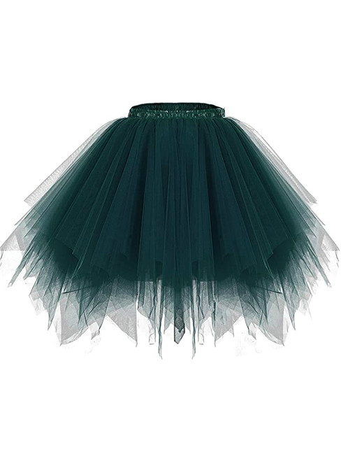 Dark Green Dance Tulle Tutu Skirt