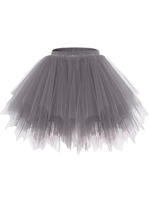 Dark Gray Dance Tulle Tutu Skirt