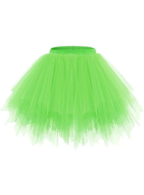 Fluorescence Green Tulle Tutu Skirt
