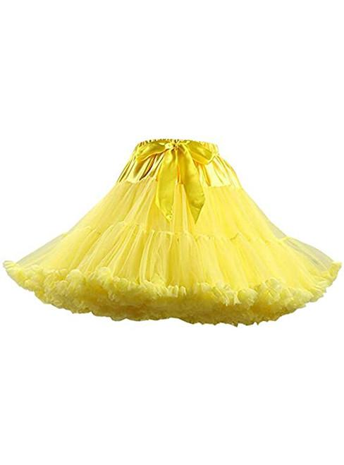 Yellow Dance Short Tutu Skirts