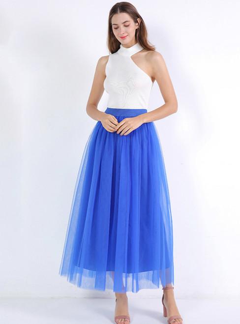 Royal Blue Tulle Tutu Skirt